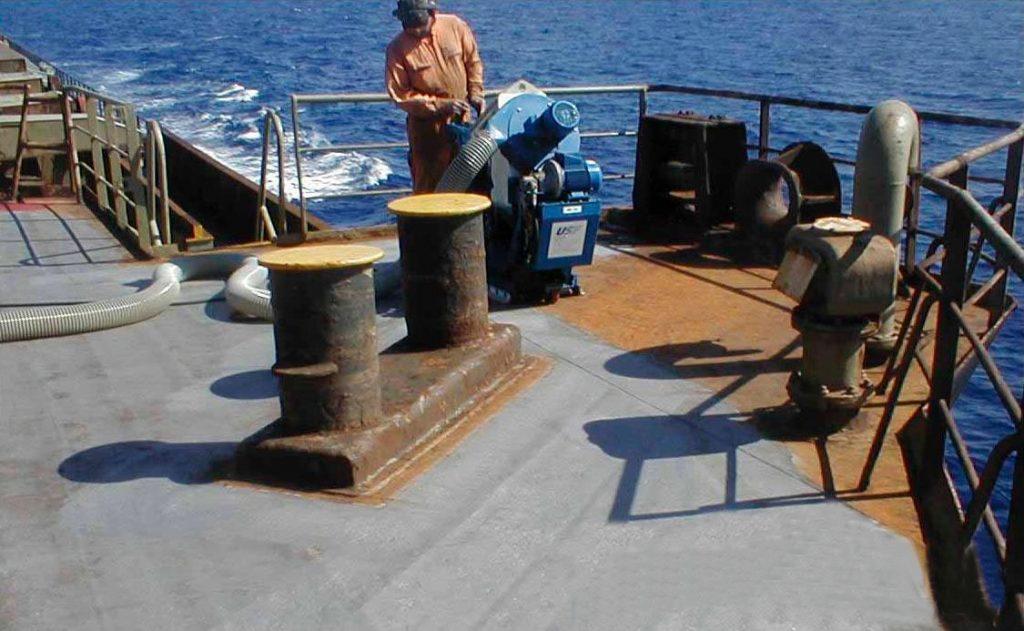 轮船甲板抛丸机