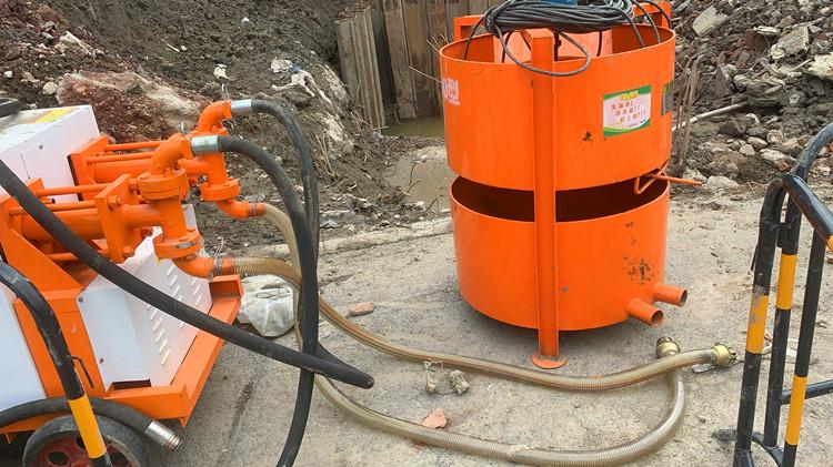 液压双液注浆机管道连接